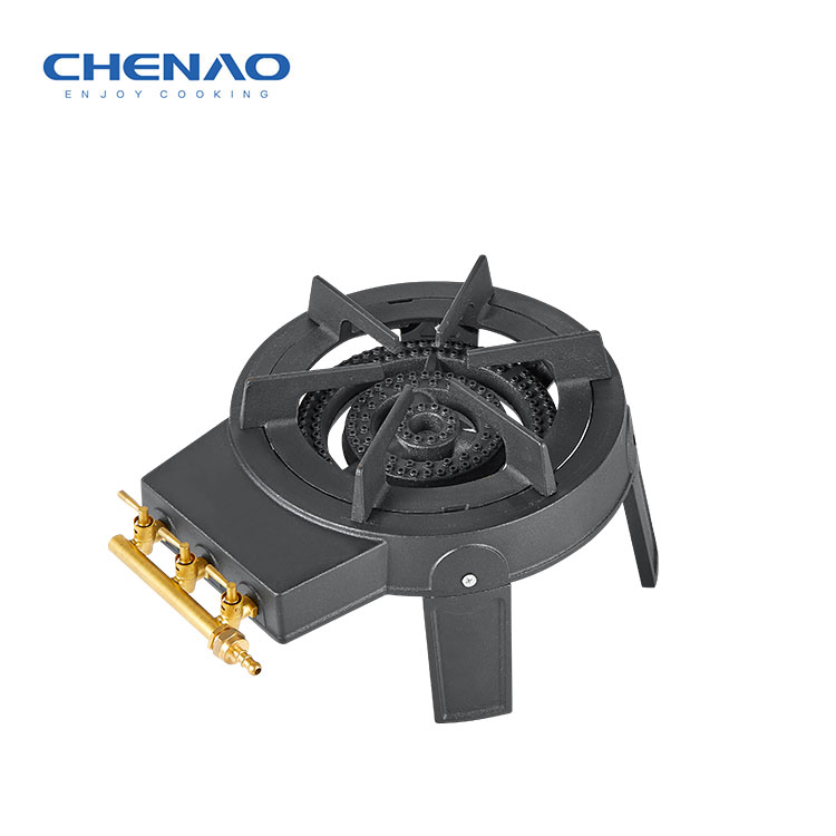 Cast Iron Gas Cooker Three Ring Burner with CE