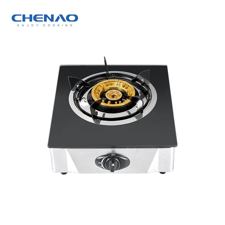 Tempered Glass Gas Stove -Single Burner 130mm big burner