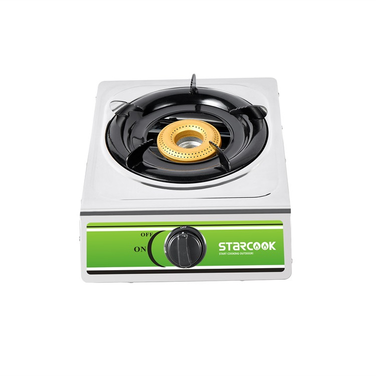 Stainless Steel Table Gas Stove-1 Burner Iron Gas Burner
